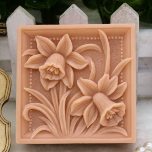 Flower Silicone Soap Mold Homemade Soap DIY Craft Soap Making Molds Square