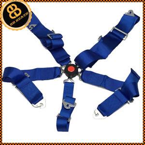 Seat-Belt-5-Point-Racing-Harness-Quick-Release-Track-Race-Drift-Car-BLUE