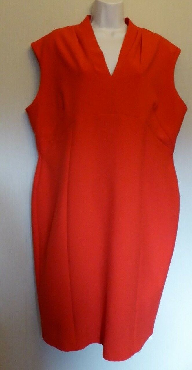 Per Una UK20 EU48 US16 new poppy sleeveless part-lined shift dress with stretch