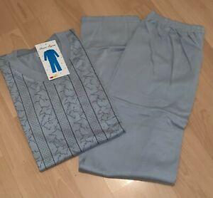 TOP Herren Schlafanzug Pyjama Gr. M bis 3XL grau gemustert NEU