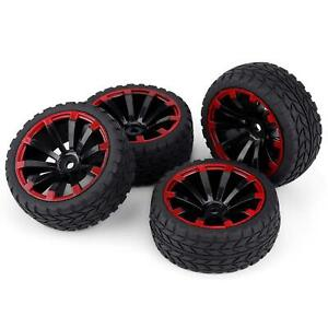 Details about 4x Rubber Tires Rally Tyre Racing On Road Wheel 12mm Hex for HSP HPI RC 1:10 Car