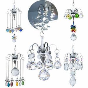 H-amp-D-Angel-Crystal-Suncatcher-Prisms-Hanging-Pendant-Chandelier-Lighting-Decor