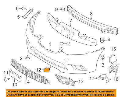 Genuine Nissan Sentra Front Bumper Tow Bracket Cover 622A0-3YU0H