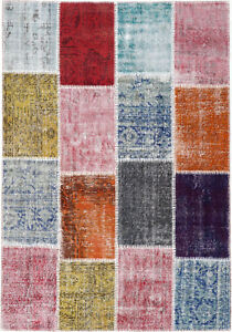 Patchwork-Teppich-Orientteppich-Rug-Carpet-Tapis-Tapijt-Tappeto-Alfombra-Vintage