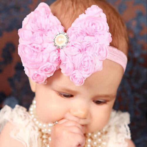 Baby Kinder Mädchen Blumen Stirnband Haarschmuck Haarband Kopfband Headband HOT