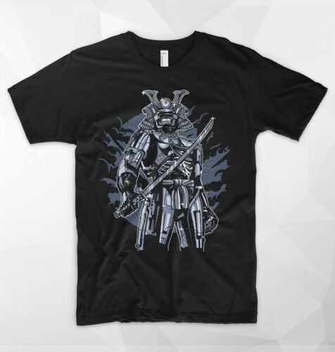 Samurai Skeleton Skull RoboCop T Shirt Top Japanese Catana Armor Cyberpunk Gift