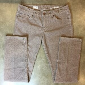 hottest sale durable modeling new specials Details about GAP 1969 CORDUROY REAL STRAIGHT PANTS LIGHT TAN ANIMAL PRINT  SIZE 28