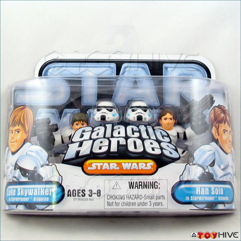 Star Wars Galactic Heroes Luke & Han Solo Stormtroopers