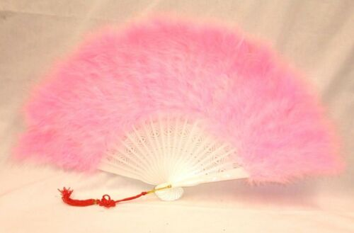 Red Hat Ladies High Society Feather Fans Red Purple Pink