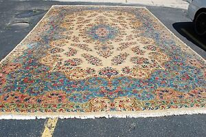 C1940s Antique Palace Size Kork Wool High Kpsi Lavar Kirman Rug 12x19 Ebay
