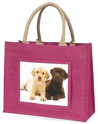 Labrador Welpen Hunde Große Rosa Einkaufstasche Weihnachten Geschenkidee,