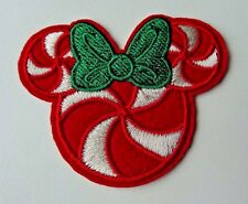 Disney CHRISTMAS MINNIE PEPPERMINT Embroidered Iron On/ Sew On Applique Patch