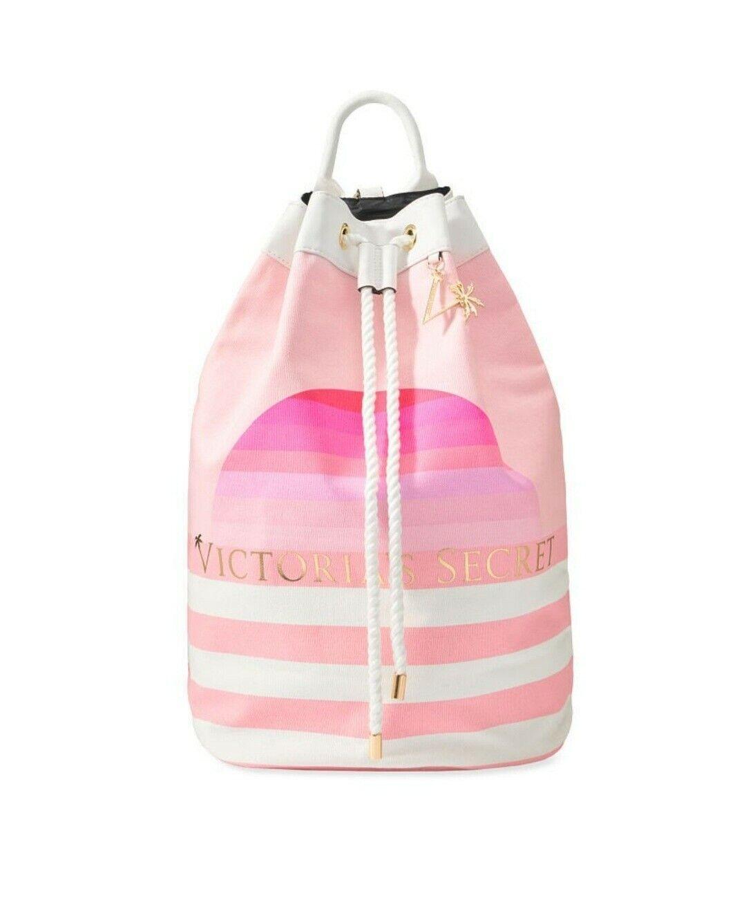 NWT Victoria Secret Striped Cinch Tote~backpack