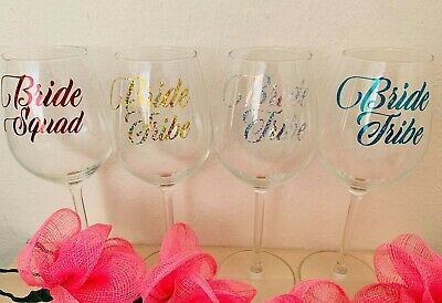 Decal Label for Wedding Party champagne flutes glasses//wine glasses Stickers