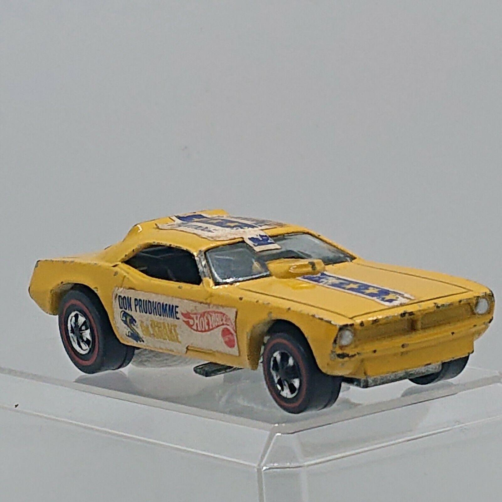 1970 Hot Wheels Serpiente giallo rossoline USA hw1166