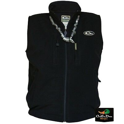 DRAKE WATERFOWL MST WINDPROOF LAYERING FLEECE VEST BLACK LARGE
