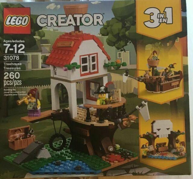 Sealed Nice! Lego Creator 31078 Treehouse Treasures 260 piece 3-in-1 set New