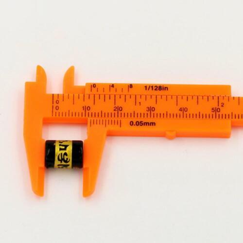 2pcs Plastic Precise Vernier Scale Caliper metric imperial 0-3.15 inches// 80mm