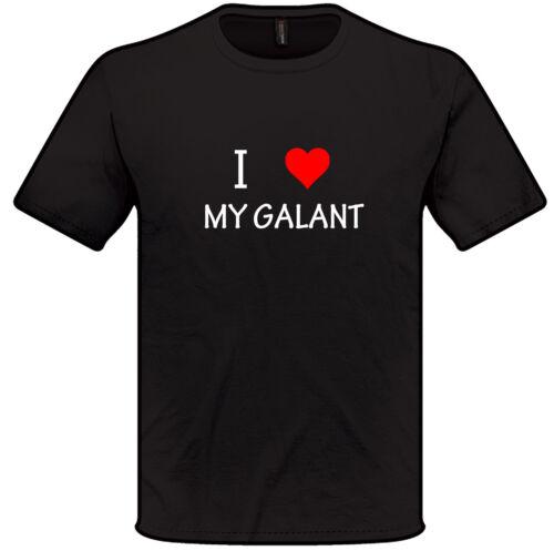 I Love Heart My GALANT T Shirt S-XXL MITSUBISHI Mens Womens gift