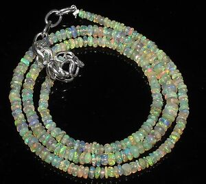 1Necklace-2to4mm16-034-Beads-Natural-Genuine-Ethiopian-Welo-Fire-Opal-Roundel-Beads