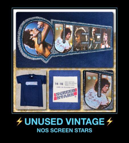 VTG 70s NOS QUEEN band Freddie Mercury movie live