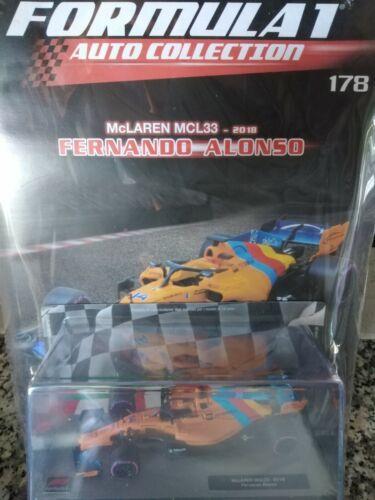 Mclaren MCL33 2018 Fernando Alonso FORMULA1 Car C.1 43 #178 MIB Die-Cast