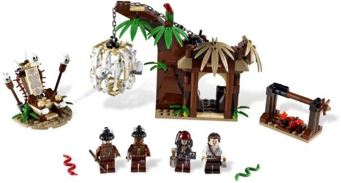 Lego Pirates Of The Caribbean 4182 The Cannibal Escape Opened Box