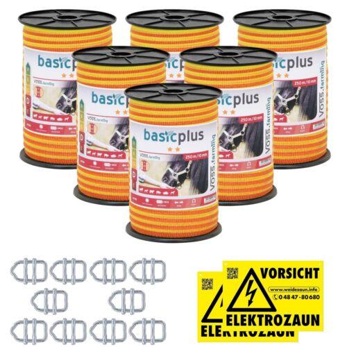 250-2500m 10mm Weidezaunband 4x0,16 Niro Elektrozaun Weidezaun Breitband Band