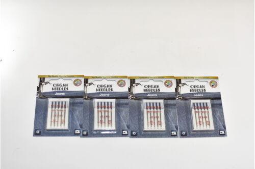 8 x NM100 St 20 Organ Jeans Nähmaschinennadeln 12 x NM90 0,60 € 130//705 H-J