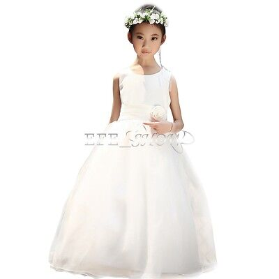 Girls Kids Fancy Princess Dress Toddler Baby Wedding Party Pageant Dresses 2-9Y