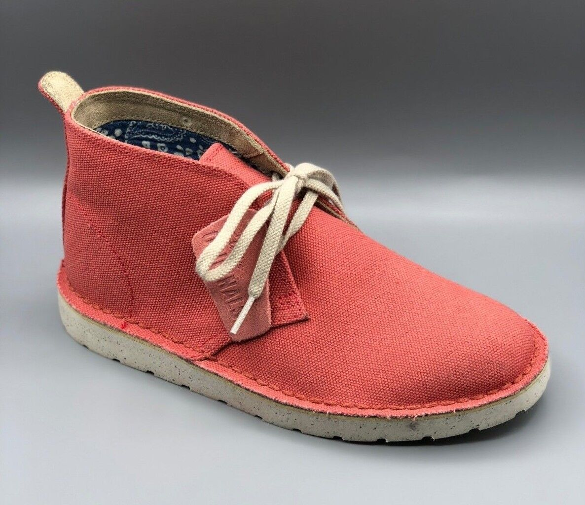 NEW Clarks Originals  Desert Aerial  Ladies Coral Canvas Ankle Boots D
