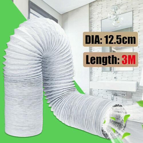3M tuyau d/'échappement 125mm PVC Alu Flexible Climatiseurs mobiles
