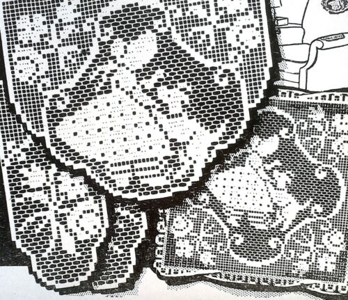 2763 Vintage LW 1941 FILET GIRL W//PUPPY SET Pattern To Crochet Reproduction