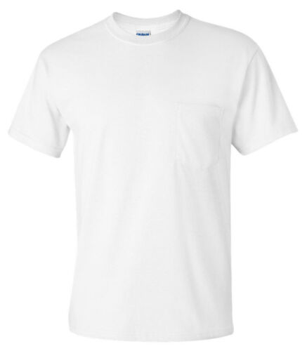 G2300 Pack3 Gildan Men/'s Adult Seamless Chest Pocket Comfort jersey Tee