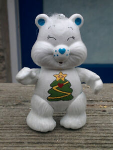 CUSTOM-Made-from-Vintage-3-034-Poseable-Care-Bear-Poseable-CHRISTMAS-WISHES-w-Tree