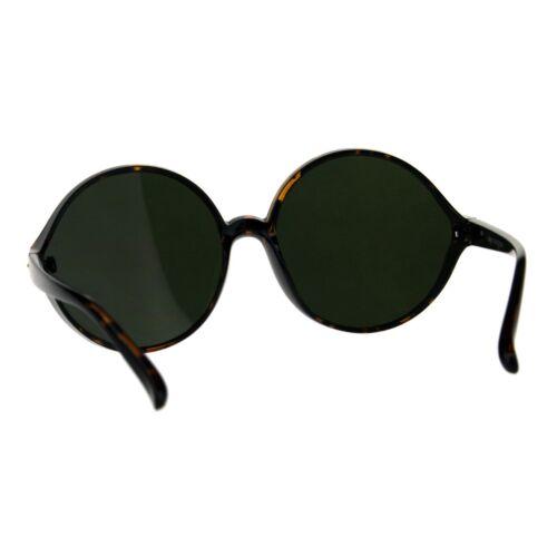 Womens Oversized Sunglasses Round Circle Designer Frame Mirror Lens