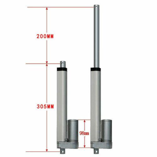 1500N Linear Actuator 12V Linearantrieb Linearmotor Türöffner Bracket 600mm DE