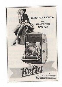 Pubblicita-1940-WELTA-WELTINI-FOTO-PHOTO-advertising-werbung-publicite-reklame