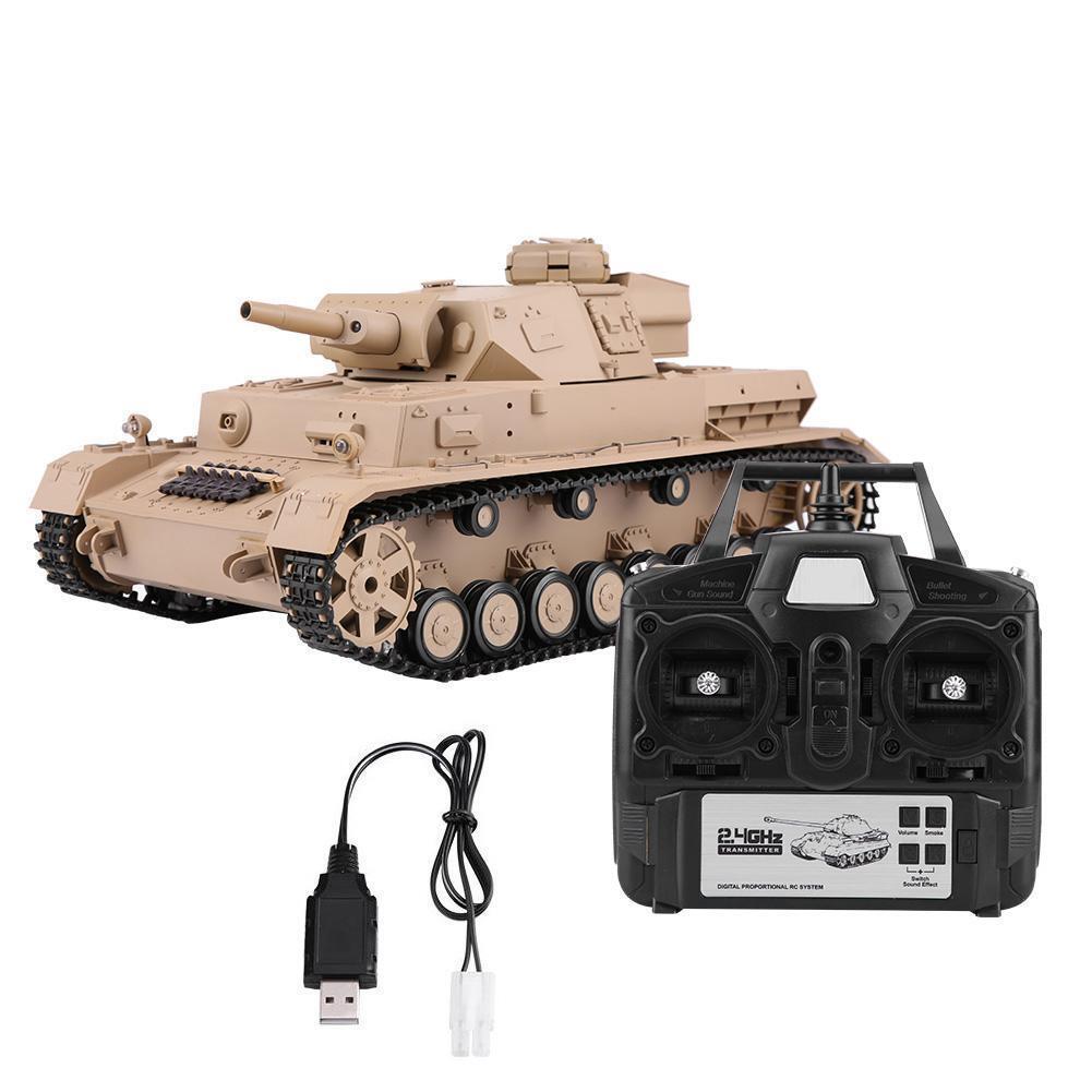 Henglong 1 16 2.4G Alemán Panzer IV Tanque RC Batalla de simulación de Radio Control R C