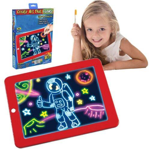 2019 Zeichenbrett für Kinder Malen Lernspielzeug Malen LED Pad für Kinder