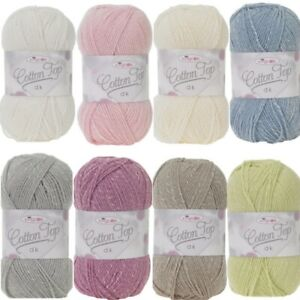 King-Cole-Cotton-Top-DK-Knitting-Yarn-Wool-100g-Ball-Double-Knit