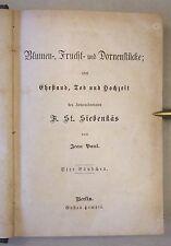 JEAN PAUL: SIEBENKÄS, vier Bändchen, Gustav Hempel um 1870