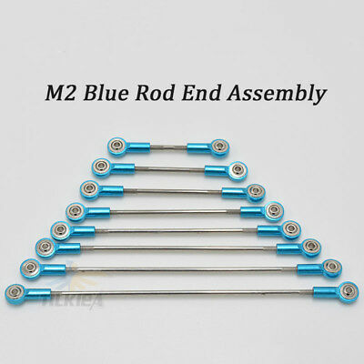 Aluminum M3 Link Blue Rod End Ball Joint Metal Tie Rod End Assembly