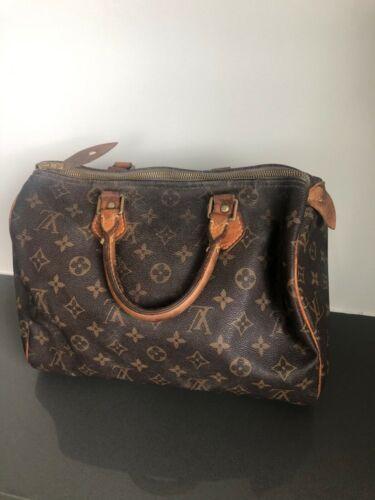 Authentic Luis Vuitton Speedy Leather Handbag