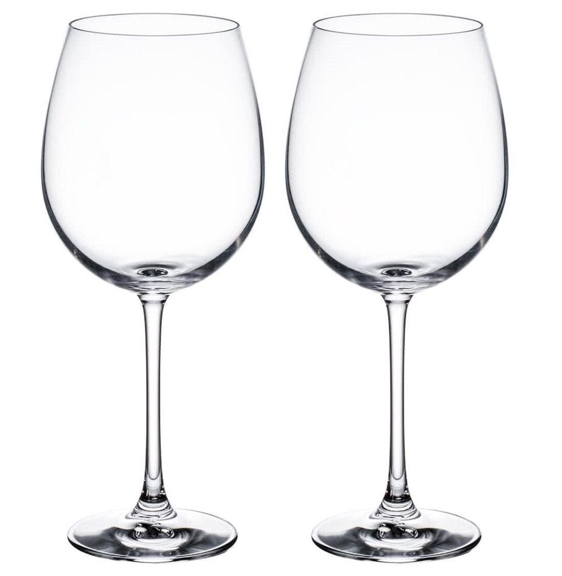 TWO (2) NACHTMANN VIVENDI 24.5 OZ FASHIONABLE RED WINE GLASS GLASSES GERMAN MADE