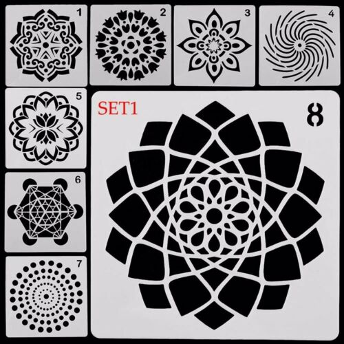 hágalo usted mismo Mandala auxiliar Pintura Plantilla Tablero De Dibujo Plantillas Scrapbooking 8 un