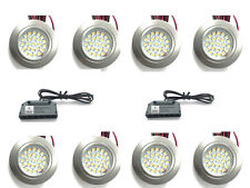8 X 12V RECESSED LED SPOT LIGHTS DOWNLIGHTS CARAVAN MOTORHOME BOAT WARM WHITE