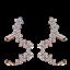 Exquisito Brillante Plata Esterlina 925 Cubic Zirconia Pendientes Oreja Clip Puño