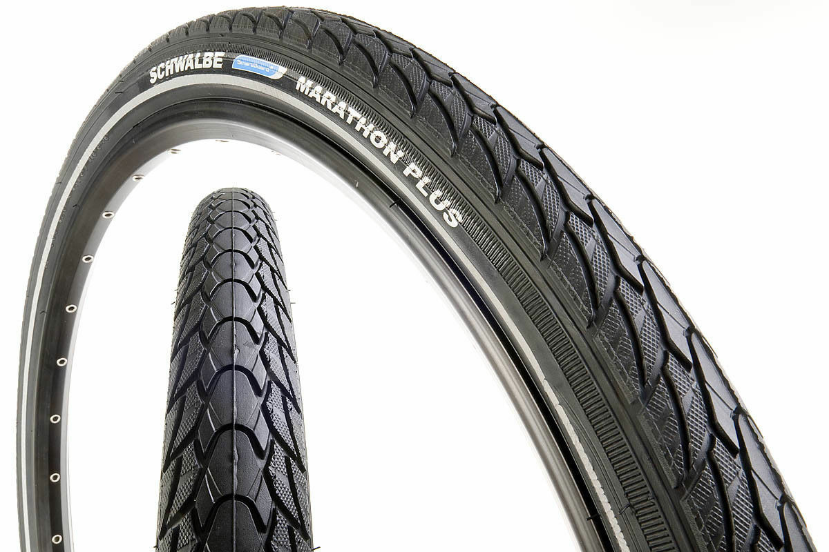 2x Schwalbe Marathon Plus Wired Tyre,  SmartGuard, 700B x 38, 28 x1-1 2  (40-635)  100% price guarantee