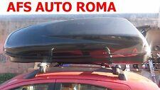 BOX AUTO PORTAOGGETTI G3 HELIOS 480+BARRE ALLUMINIO PANDA 2005 CON RAILS+CHIAVE